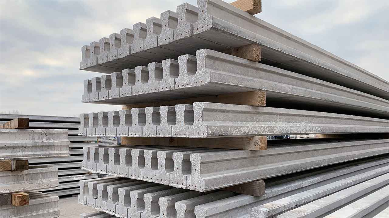 TP155 Beam, housebeam, beam and block floors, beam & block flooring, prestressed t beam